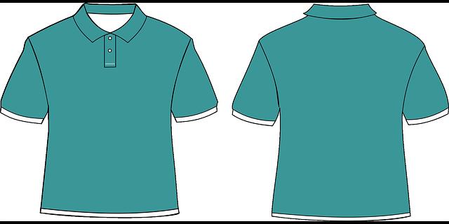 košilové triko zepředu, zezadu